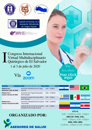 I congreso Internacional Virtual Multidisciplinario Quirurgico de El Salvador